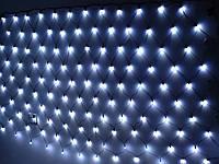 Гирлянда № (3-0,4-0,5-06) -100-3 / проз.шнур. / СЕТКА / 8 функций / 100LED ламп / 2,5-3м / бил.колир (арт.7880)