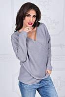 Стильный женский свитер вязка из ангоры