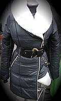 Куртка женская зимняя , теплая, пуховик, пальто, удлиненная. С подкладкой на искусственной овчине