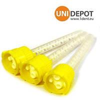 Смеситьльные насадки к силикону , насадки к силикону жолтые , насадки к силикону 1:1