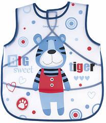 Слюнявчик пластмассовый синий  Canpol babies 9/236 Puppets  НОВИНКА!!!