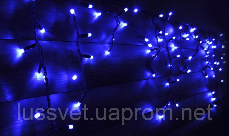 Світлодіодна гірлянда бахрома Holiday є icicle 120LED 2*0,9 синя (бел./черн. кабель)