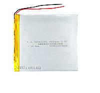 Аккумулятор планшета (4000 мАч) плоский - размер 3.2х94х107 3,7в Bravis, Nomi, ImPAD, Prestigio 4000mAh 3.7v
