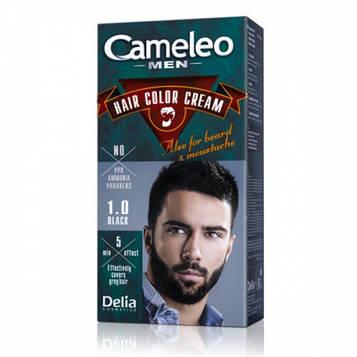 Delia Cameleo Men Краска для бороды, усов, бакенбардов 1.0 Черный