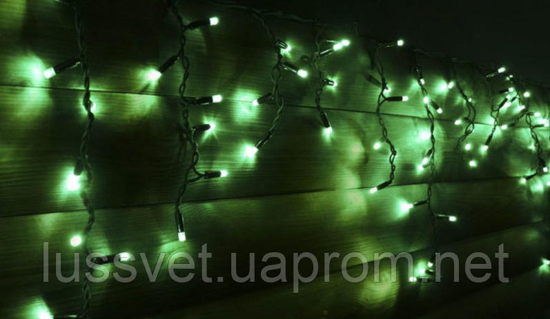 Гірлянда бахрома вулична Holiday є icicle 120LED 2*0,9 зелена (бел./черн. кабель)