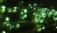 Гірлянда бахрома вулична Holiday є icicle 120LED 2*0,9 зелена (бел./черн. кабель), фото 1