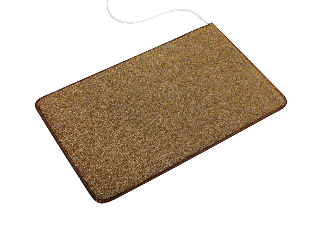 🔝 Электро-ковер с подогревом для ног, 150 x 60 см. Трио, коричневый, электрический | 🎁%🚚