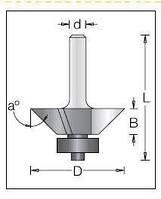 Фреза DIMAR для зняття фаски D=30 a=45 B=10 d=8