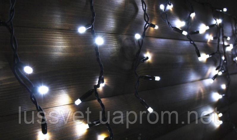 LED гірлянда-бахрома вулична Holiday є icicle 120LED 2*0,9 біла (бел./черн. кабель)