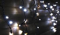 LED гірлянда-бахрома вулична Holiday є icicle 120LED 2*0,9 біла (бел./черн. кабель), фото 1