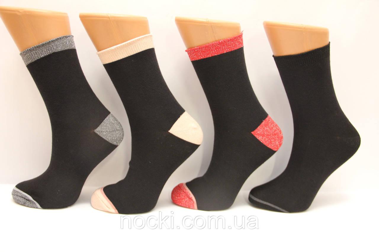 Женские высокие носки ЕKMEN с люрексом