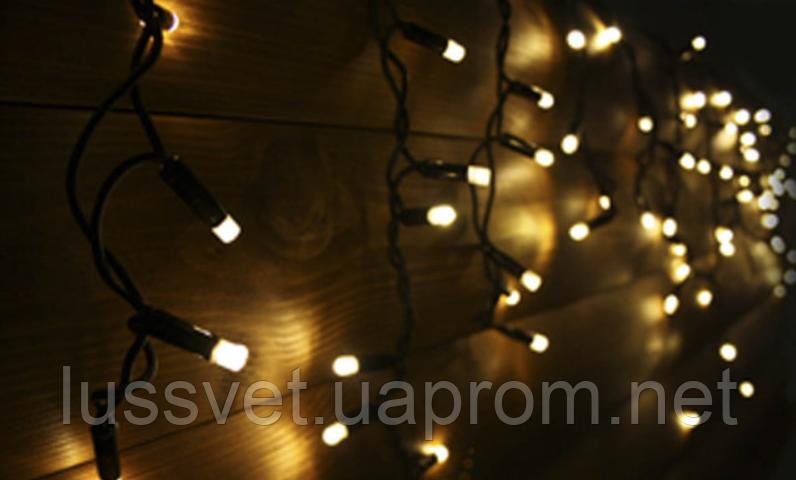 Гірлянда-бахрома led вулична Holiday є icicle 120LED 2*0,9 теп.біла (бел. кабель)