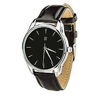 """Часы """"Белым по черному"""" (ремешок насыщенно - черный, серебро) + дополнительный ремешок, фото 1"""