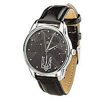 """Часы """"Герб"""" (ремешок насыщенно - черный, серебро) + дополнительный ремешок, фото 1"""