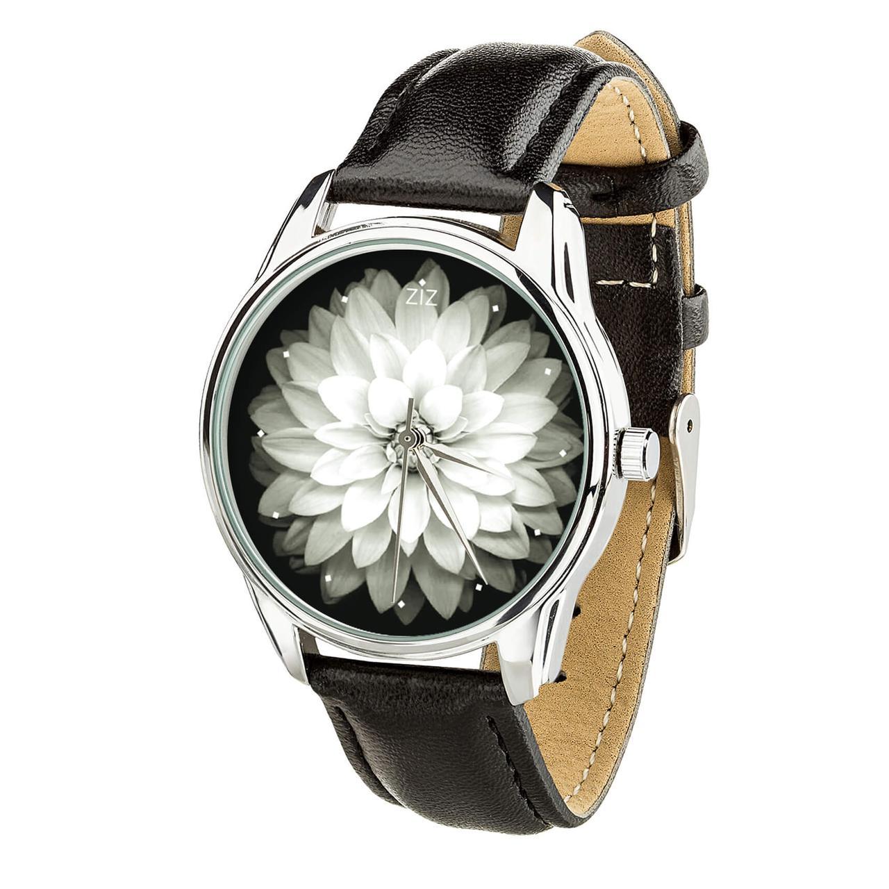 """Часы """"Астра"""" (ремешок насыщенно - черный, серебро) + дополнительный ремешок"""