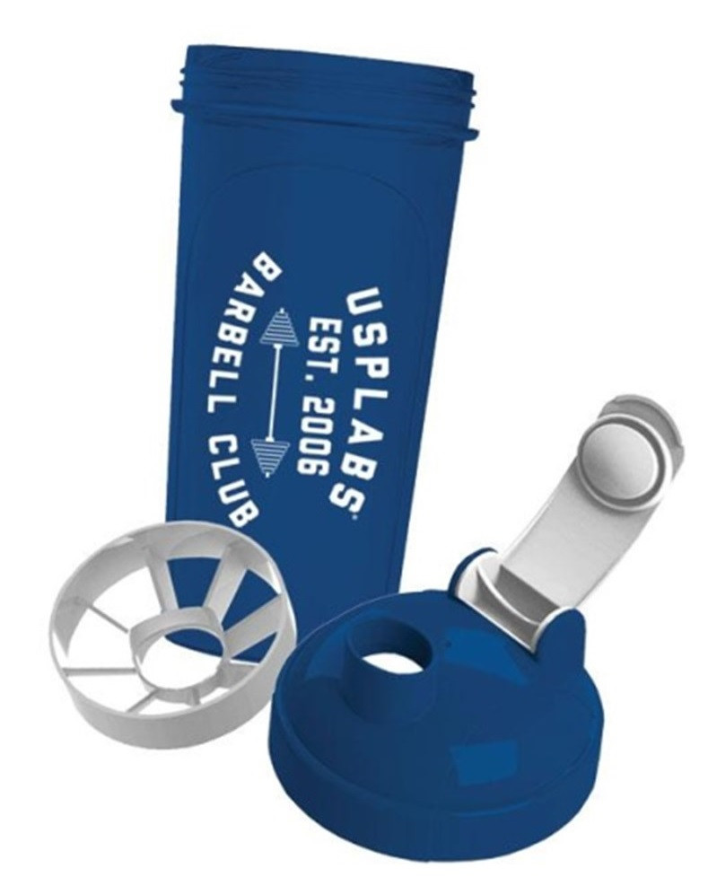 Шейкер USP Labs Barbell Club Shaker 700 ml blue