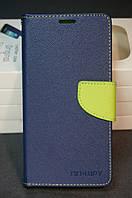 Чехол книжка для Samsung Galaxy J7 Prime G610 Самсунг цвет синий