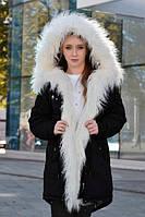 Зимняя женская куртка парка на меху , фото 1