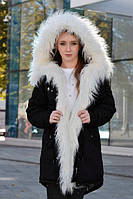 Зимняя женская куртка парка на меху