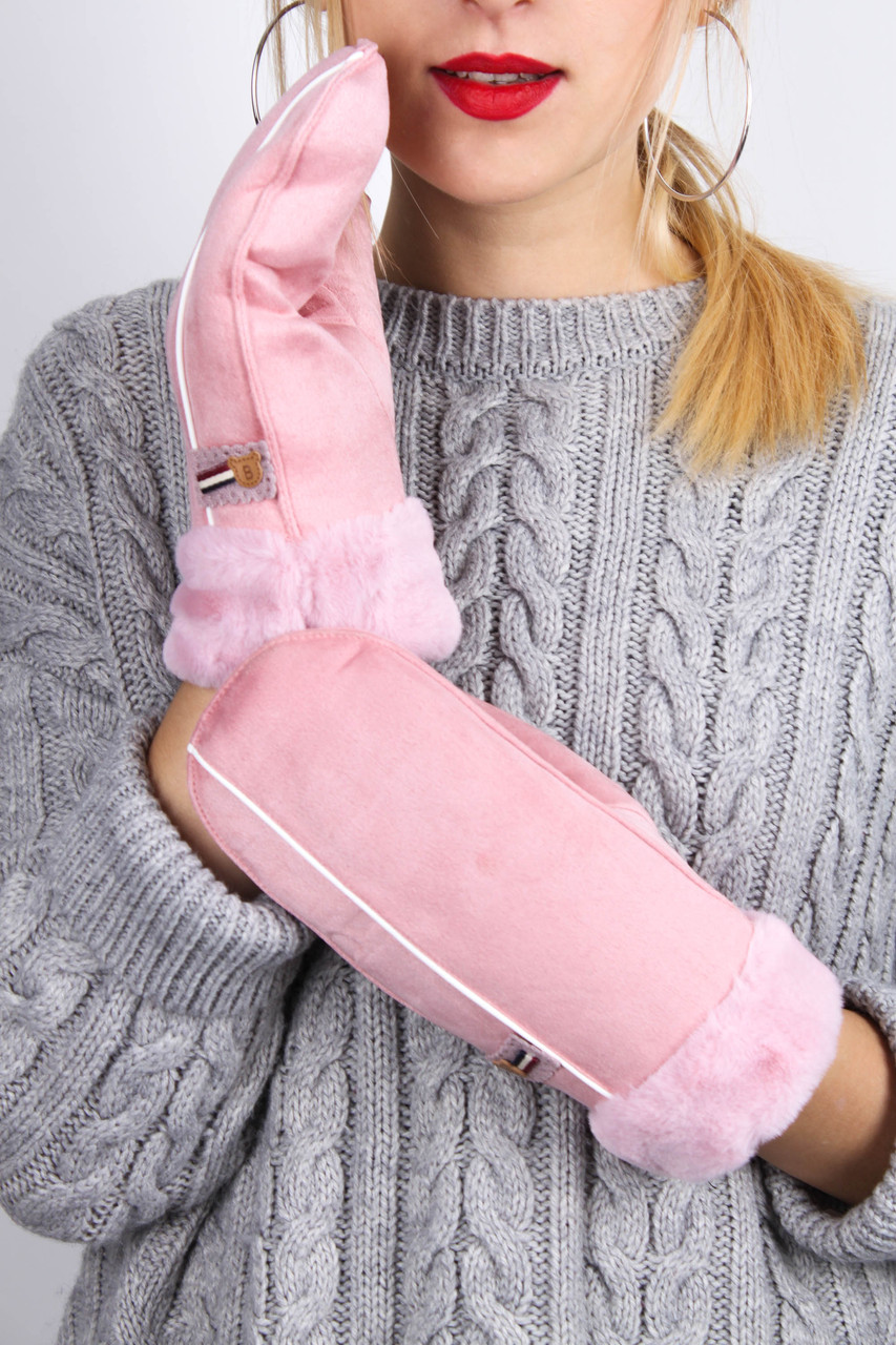 Женские варежки Бланка розовые