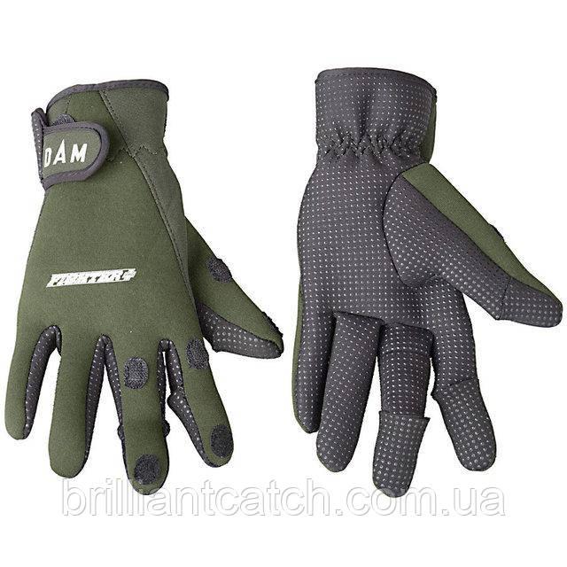 Рукавички DAM Fighter Pro+ Neoprene Gloves з отстегными пальцями 2мм неопрен M