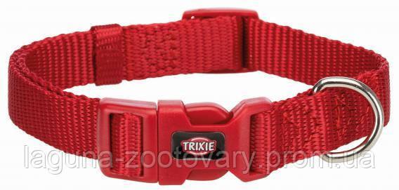 ТХ-201503 Ошейник Premium нейлон S-M 30-45см/15мм, красный для собак