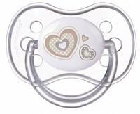 Пустышка силиконовая симметричная 6-18 мес. Newborn baby -бежевая Canpol 22/581