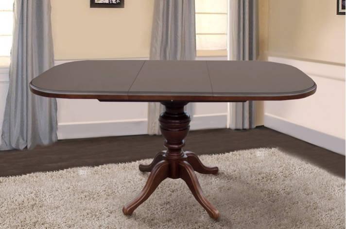 Стол обеденный раскладной Триумф орех темный, фото 2