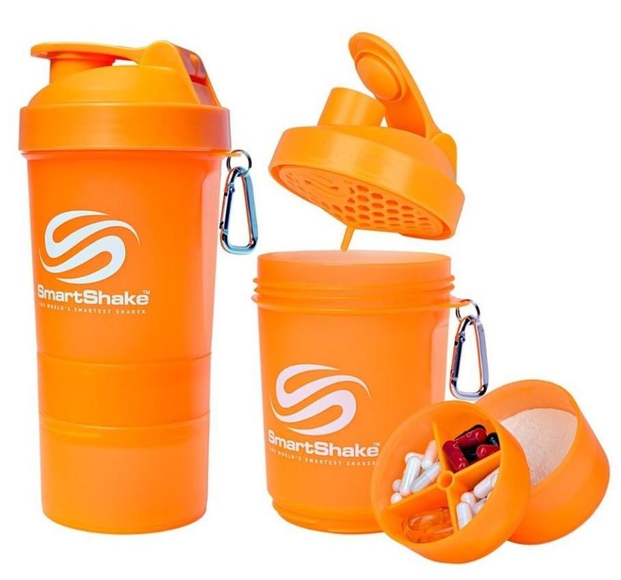 Шейкер SmartShake Original NEON Orange 600 ml