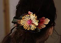 Зажим для волос, Цветной цветок., фото 1