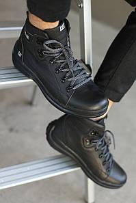 Мужские зимние ботинки CATERPILAR. Кожаные/Чёрные
