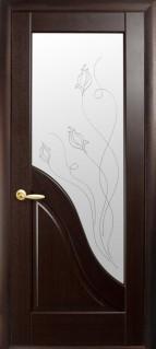 Двери межкомнатные Новый Стиль, Маэстра, модель Амата, со стеклом сатин с рисунком P2