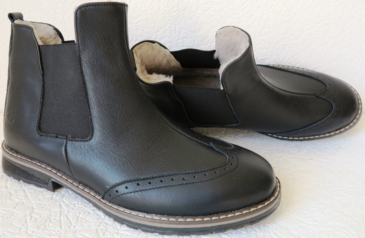 ab8343c30b1 Женские стильные ботинки в стиле Timberland челси натуральная кожа оксфорд  батал зимние