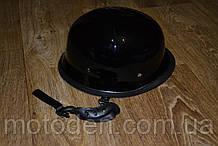 Уценка! Шлем ретро (каска немецкая) черный глянец, размер M (окружность головы 57-58см)