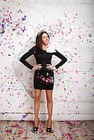 Платье мини с большим бантом на плече 01209, фото 1