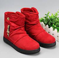 Бархатные яркие полусапожки ботинки Брендовая сезонная обувь Стильный  модный дизайн Купить Код  КГ6326 9e884a8495162
