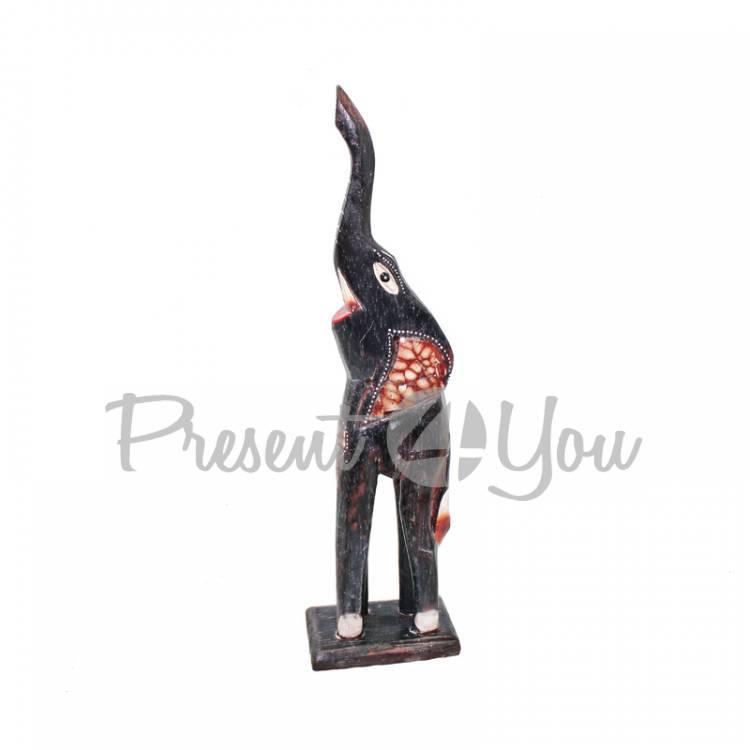Деревянная статуэтка слон «Дану», h-30 см (60015.2e)