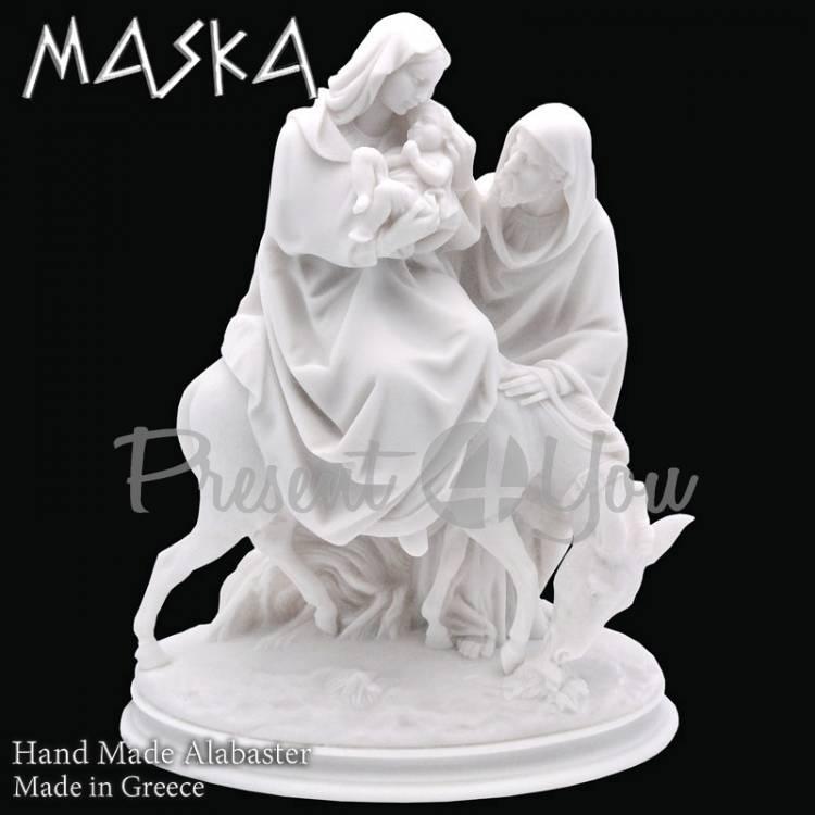 Фигурка-статуэтка из алебастра «Святая семья» Греция, h-25 см (395-0419)