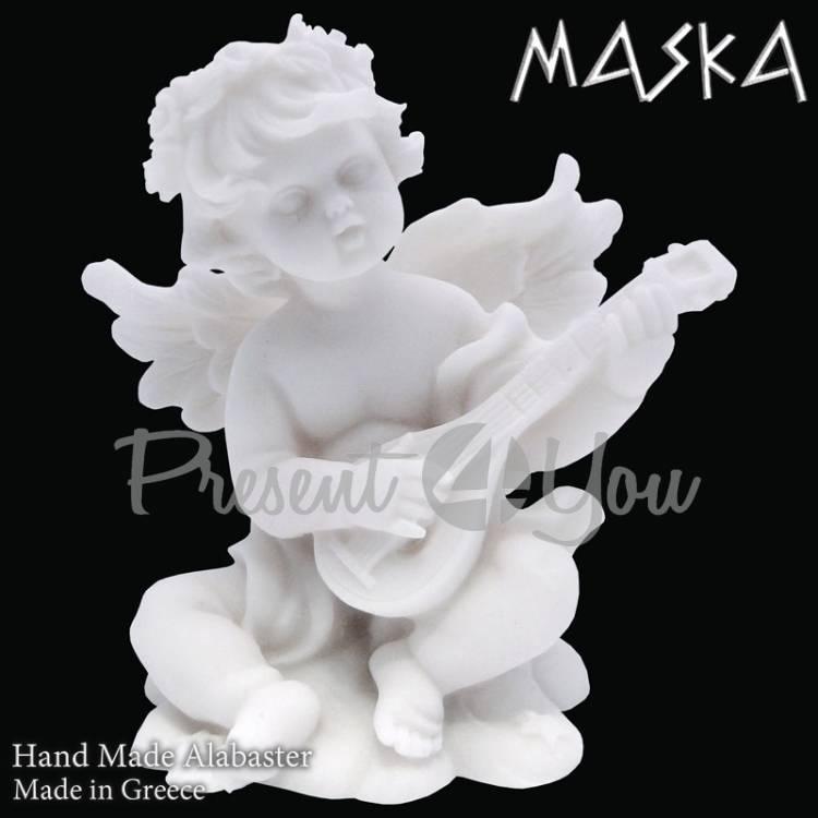 Фигурка-статуэтка из алебастра «Купидон» Греция, h-9 см (395-0626)
