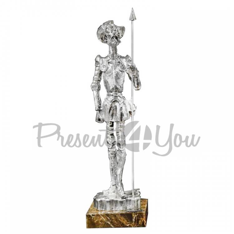 Скульптура из керамики посеребренная Anglada «Дон Кихот», h-37см