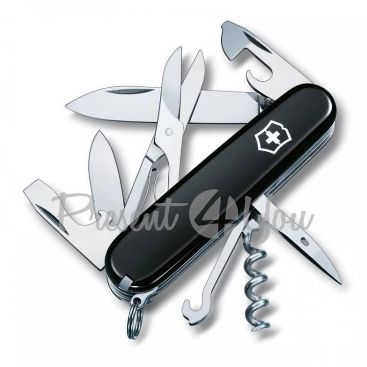 Нож черный - CLIMBER из высокопрочной нержавеющей стали Victorinox
