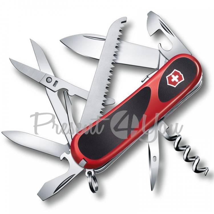 Нож красно-черный - EvoGrip из высокопрочной нержавеющей стали Victorinox