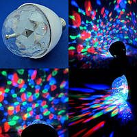 Красочно вращающаяся RGB 3 LED лампа для нового года и вечеринок, , фото 1