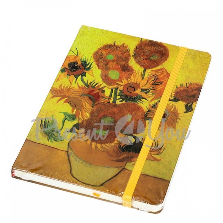 Блокнот Ван Гог «Подсолнухи», 14,5x21,5см