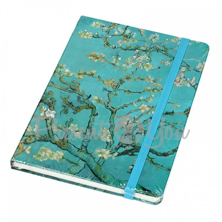 Блокнот Ван Гог «Цветущие ветки миндаля», 14,5x21,5см (021-5009)