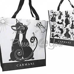 Сумка «Черно белые коты» Carmani, 46х11х38 см
