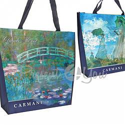 Сумка «Женщина с зонтиком» + «Водяная лилия» Carmani, 46х11х38 см