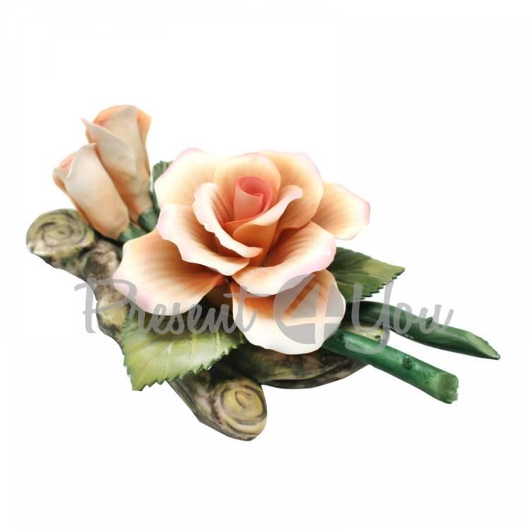 Фигурка-статуэтка из фарфора «Роза», h-8х18х11 см