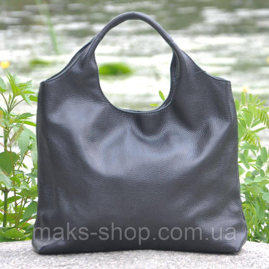 55bf19120c4b Кожаная женская сумка интересный дизайн, удобна в носке Ницца черная - Maks  Shop- надежный