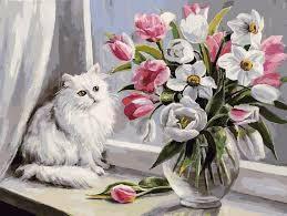 Картина по номерам Белоснежка «Весна на окошке»